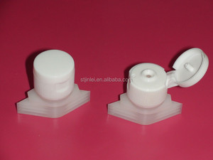 flip top cap with spouts for doypack