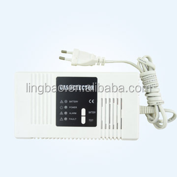 Gas Alarm Detector with Power Supply and Networking Function and Rechargeable Battery