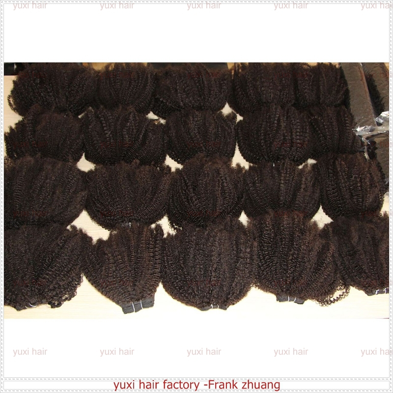 Highest quality brazilian tight afro kinky curly clip in hair extensions