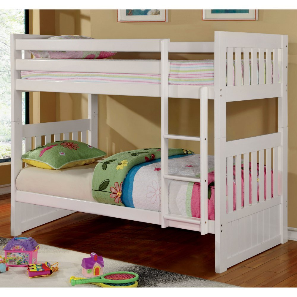 Furniture of America Parker Twin Over Twin Bunk Bed