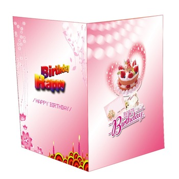 Custom Musical Greeting Card Voice Recording For Birthday