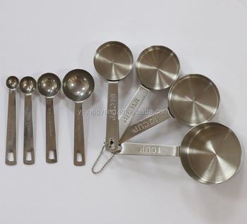 8 unids de acero inoxidable tazas y cucharas para medir de utensilios de  cocina 2164176da25d