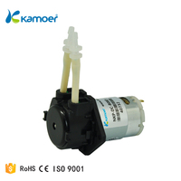 Kamoer micro dc 12v dosing peristaltic pump head with silicone tube for liquid dispensing