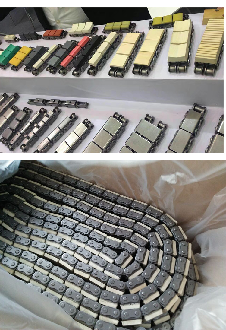 Industrial Machinery Parts Chain 16B-G1 with Rubber Top