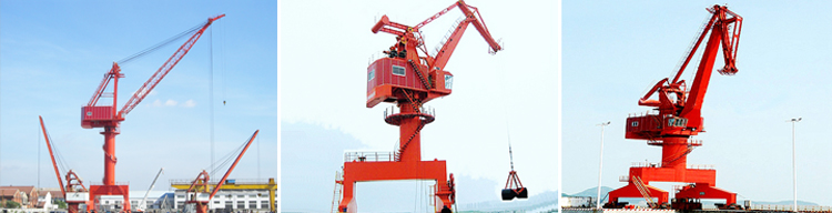 WEIHUA brand mobile harbour portal container crane price