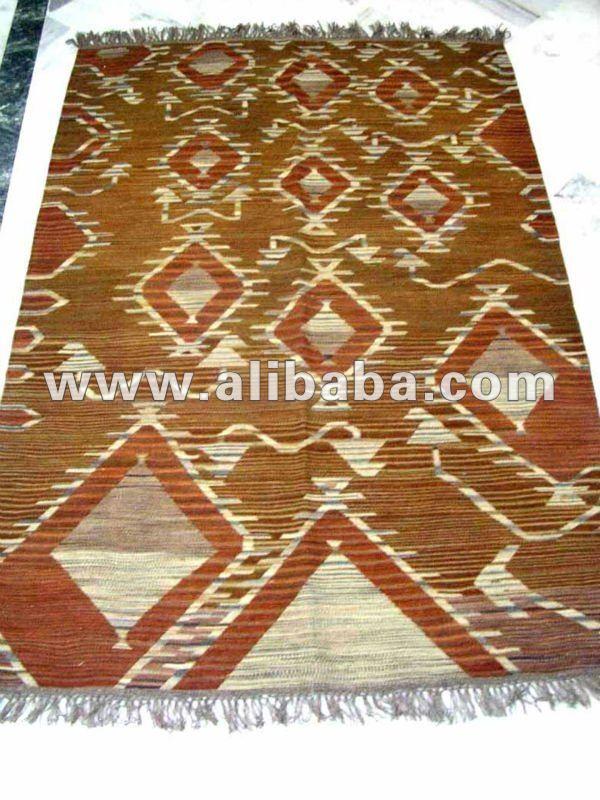 Telar de mano hecho a mano tejidas a mano durry alfombra for Alfombras artesanales tejidas a mano