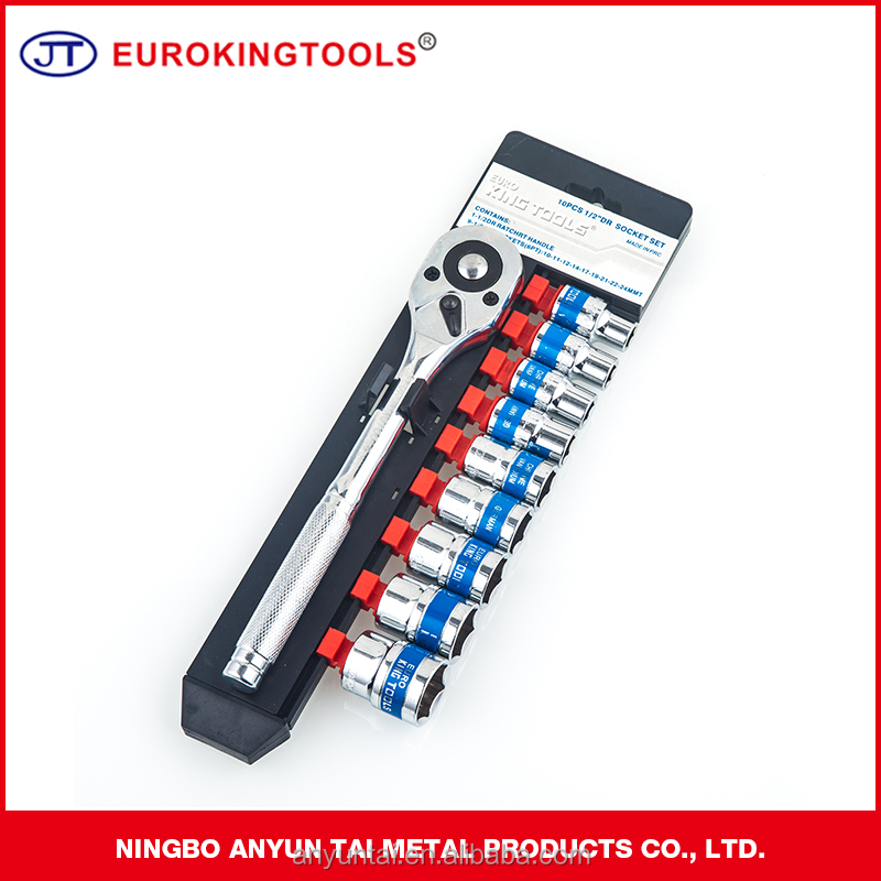 Ratchet wrench type with 10 pcs socket set