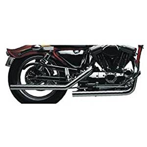 SANTEE 2 1/4 45 CALIBER STAGGERED DUALS EXHAUST SPORSTER FOR HARLEY