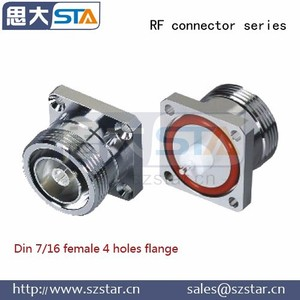Base station antenna connector L29 DIN 7/16 female flange mount connector
