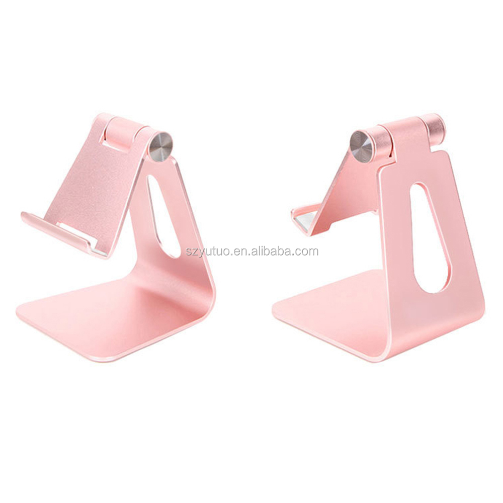 Portable Multi Angle Aluminum Alloy Adjustable Foldable Desk Holder Metal Tablet Stand For Phone/Pad