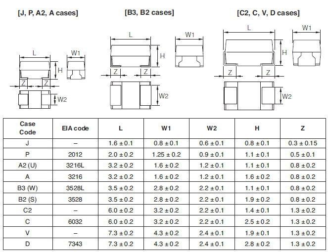 Teesva1v104m8r Nec Tokin Smd 104 Tantalum Capacitor 0 1uf