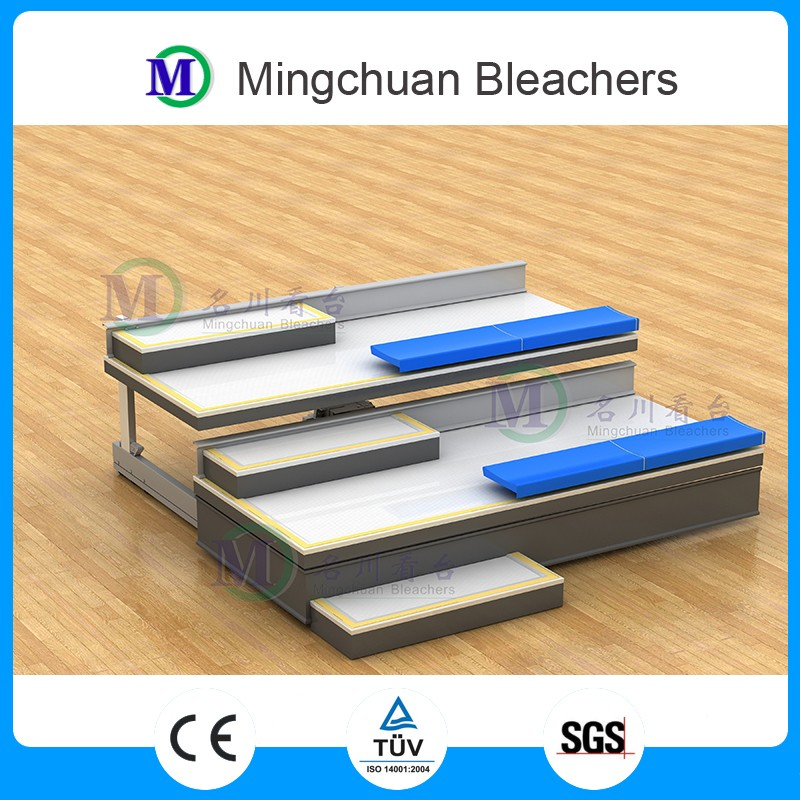 Venus telescopic bleachers no backrest basketball bleacher portable grandstand retractable bleacher for indoor sport