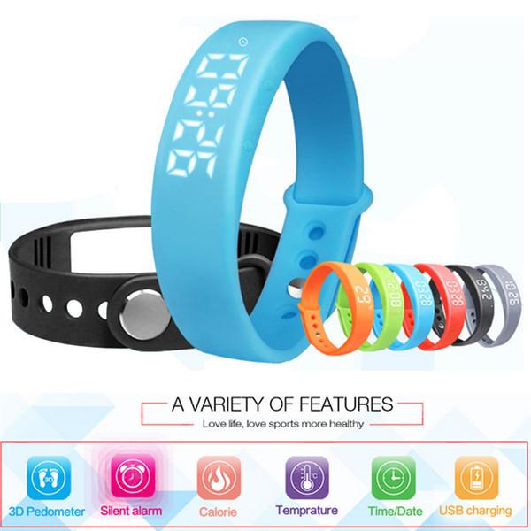 New Smart Wristband W5 Smart Bracelet Pedometer Sleep Tracker Thermometer Smart Wristband Fitness Tracker Smart watch
