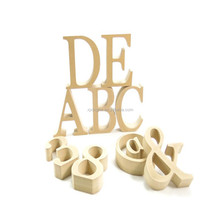 2017 Creative laser cut wooden letter craft for decoration