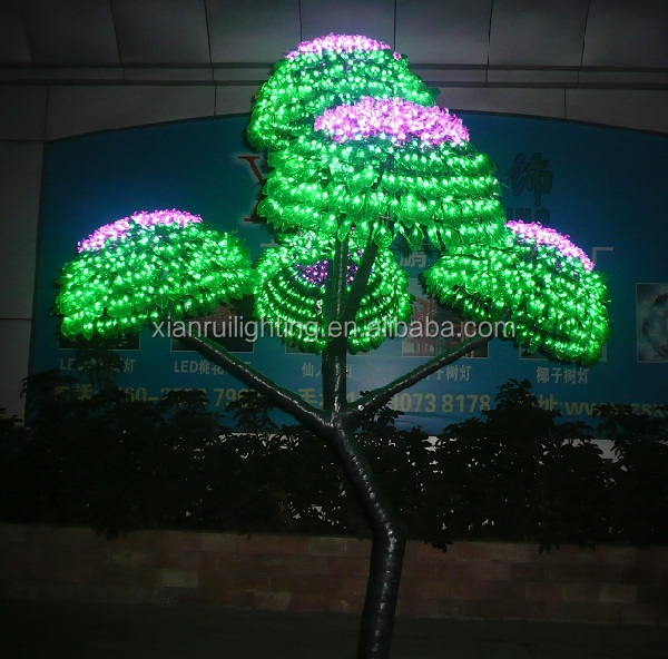 Led arbre lumi re nouvelle de no l en plastique jardin Lumiere led jardin