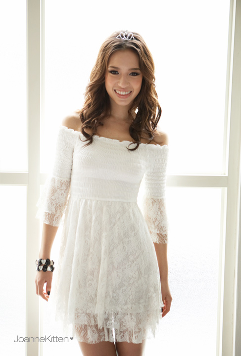 38dfa62b3e1 Get Quotations · White lace dresses slash collar patchwork chiffon dresses  hollow out sexy pleated dresses new fashion ladies