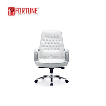 Verbazingwekkend Moderne Witte Lederen Chesterfield Bureaustoel Knop Getuft Stoel DP-19
