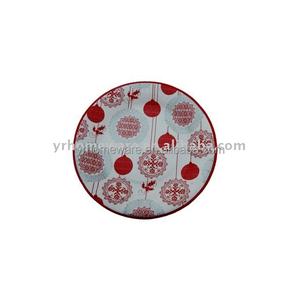 Printed paper dish Color paper plate disposable tableware