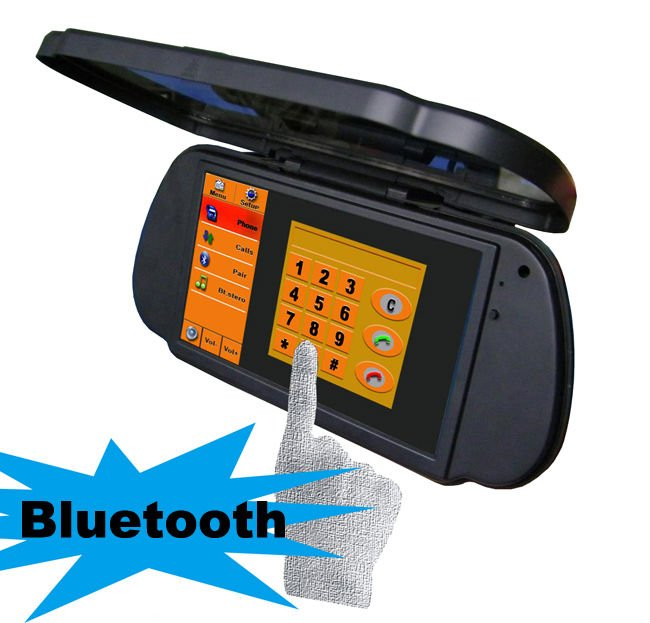GPS Mirror Navigation Car Rearview Mirror Bluetooth Handsfree Car Kit 7 inch Monitor With Parking Camera