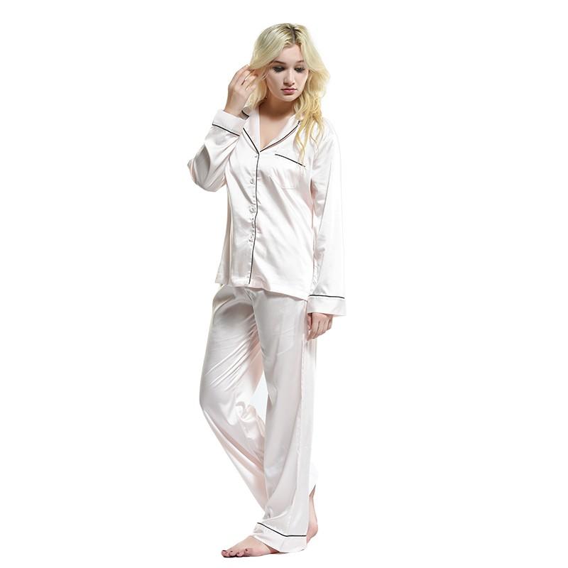Ladies Girls Sexy Nighty Wear Suit Satin Fabric Pyjamas Polyester ...