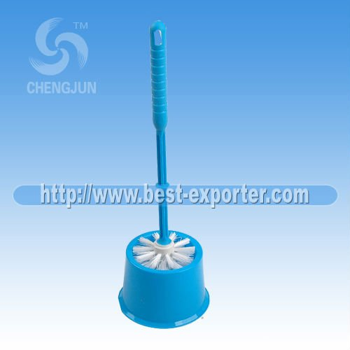 New Plastic toilet brush with holder NO T012