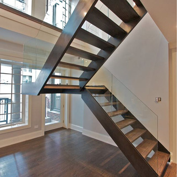 Genial Customized Indoor Residential Collapsible U Shape Stairs With Glass Grill  Design   Buy Collapsible Stairs,Stairs Grill Design,U Shape Stairs Product  ...