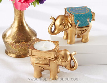 Free Shipping Top Quality Gold Indian Elephant Candle HolderPerfect For Gift And Favors