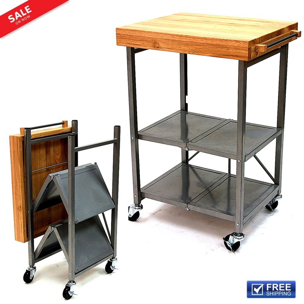 2a53d4cac6b2 Buy Portable Kitchen Rolling Cart Vintage Top Island Serving Utility ...