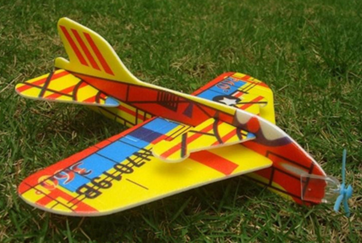 Hit 360 degrees puzzle magic swing plane bubble paper airplane model assembled creative children s toys