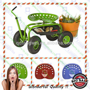 Garden Rolling Work Seat Cart With Four Wheels Garden Tool Sets
