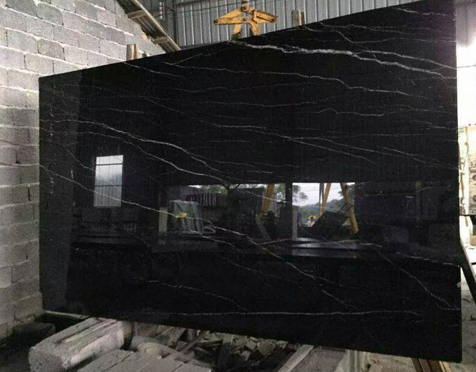 China natural black with white vein marble marble flooring border designs  marble bathroom wall cladding. China Natural Black With White Vein Marble Marble Flooring Border
