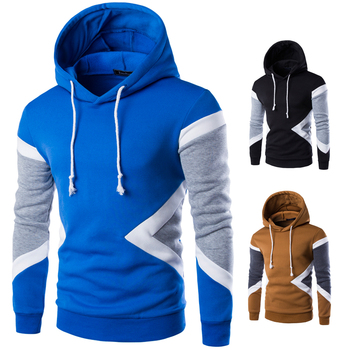 2016 New korean men's hood pullovers sweater coat