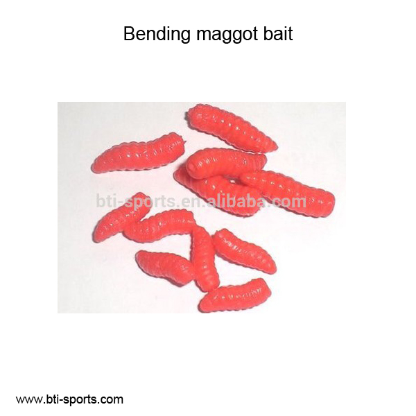 Colorful delicious bending maggot bait carp fishing bait