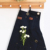 Customize black mens heavy duty canvas work aprons with leather cross back straps