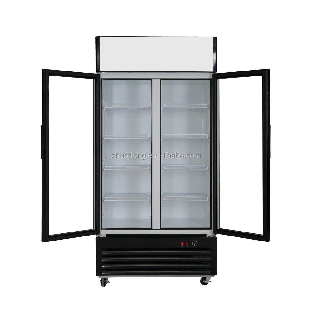 Puertas de vidrio de doble pantalla congelador nevera pepsi equipo de refrigeraci n - Nevera doble puerta ...