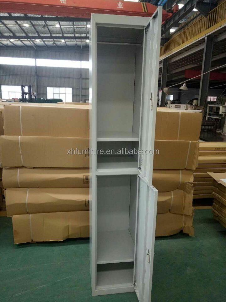 customized factory 2 door gym lockers for sale with metal / steel material