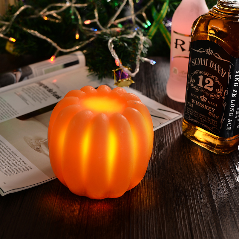 Pumpkin shaped battery operated Led candles halloween