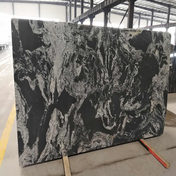 Chinese Black Granite Slab With White Veins