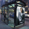 Prefabricated stainless steel bus shelters design