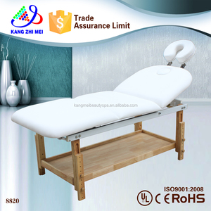beautiful portable hot high end spa facial couch beauty therapy wooden massage bed (8820)