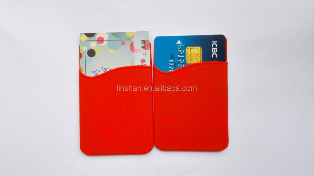 Silicone 3m Business Card Holder,Sticky Pouch Card Money Holder ...