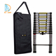 Newest portable Light weight aluminum telescopic step ladder with finger protectors