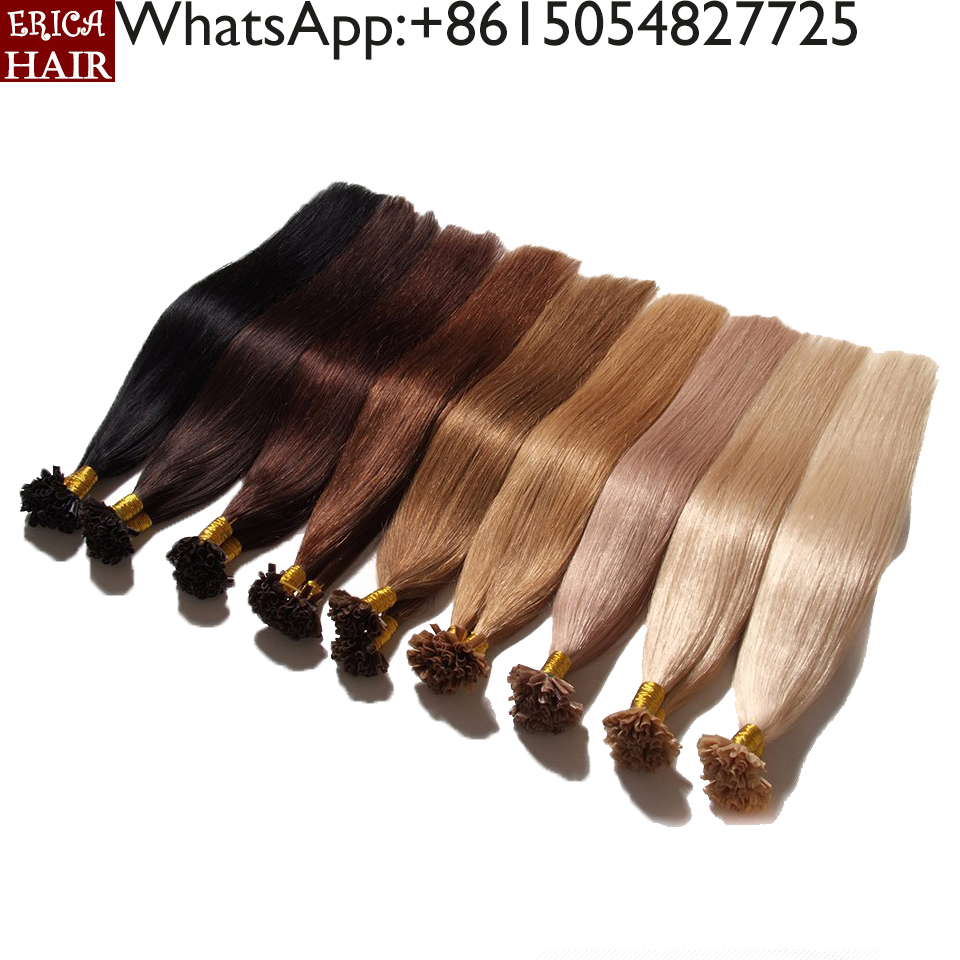 Factroy Price Italian Glue Wholesale Top Quality Unprocessed Raw Indian Virgin Hair Straight 32 inch hair extensions