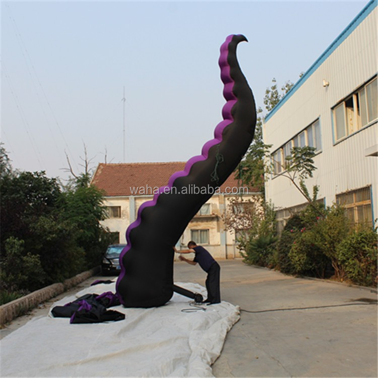 Giant roof decoration inflatable octopus tentacle, inflatable squid
