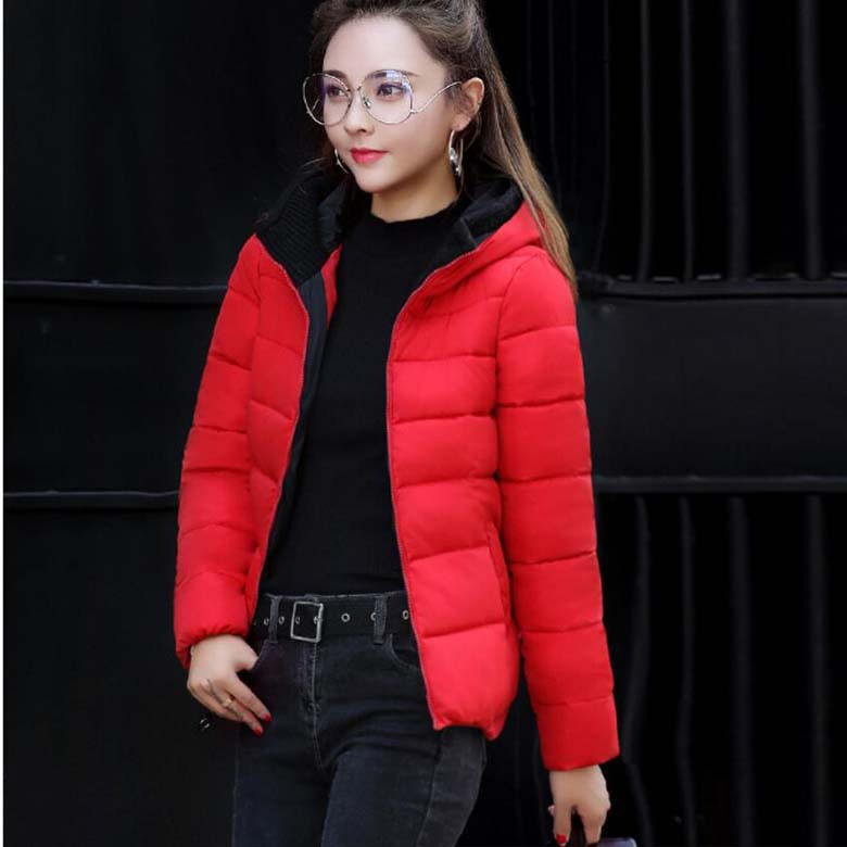 New Winter Ladies Short Coat Design Hooded Coat Down Short Parka ...