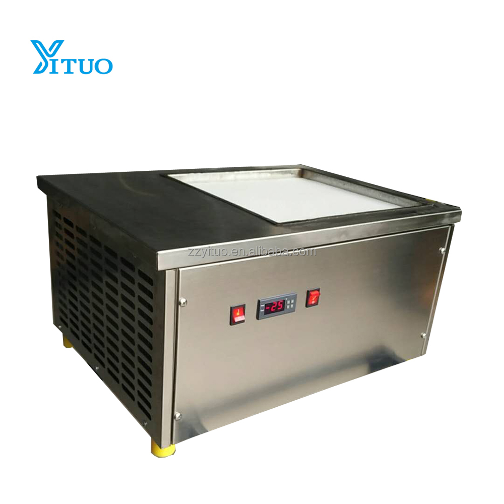 High efficiency commerical SECOP cold pan flat ice pan fry fried ice cream machine