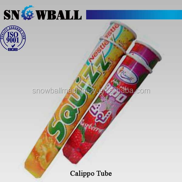 100ml printed tubes for packaging calippo style ice lollies