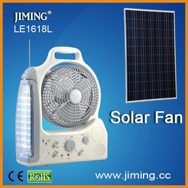 LE1618-6BL 36LED rechargeable 8' fan with AM/FM radio fuction
