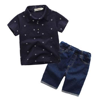 e4ac084af New Fashion Kids Clothes Boys Summer Set Print Shirt + Short Boy ...