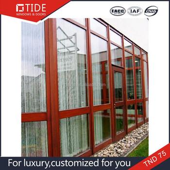 Innen Holz Tür Und Aluminium Windows Für Hausholz Verkleidet